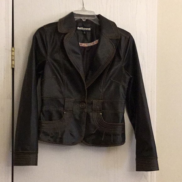 Dollhouse Jackets & Blazers - Dollhouse faux leather junior small jacket.